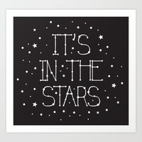 constellations Art Prints featuring Constellations  by Estaschia Cossadianos