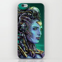 Cyberpunk Woman iPhone Skin