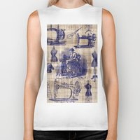 sewing Biker Tanks featuring Vintage Sewing Toile by Bonnie Phantasm