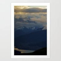 nieve nubes Art Print