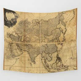 Map of Asia and it's Islands according to D'Anville (1799) Wall Tapestry