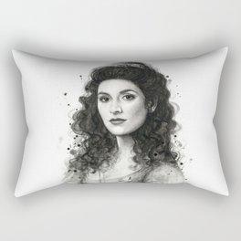 Deanna Troi Rectangular Pillow