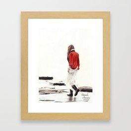 A walk at solitude Framed Art Print