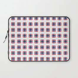 flag of norway - with soft square Laptop Sleeve
