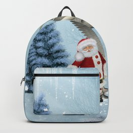 Santa Claus with cute pegasus Backpack