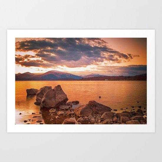 Liquid Gold Loch Lomond Art Print