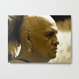 A Warrior's Stare Metal Print