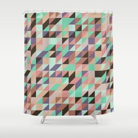 triangle Shower Curtains featuring Triangle by Crazy Thoom