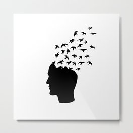 Head of freedom Metal Print
