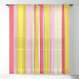 Bold Color - RED, YELLOW, AND PINK Sheer Curtain