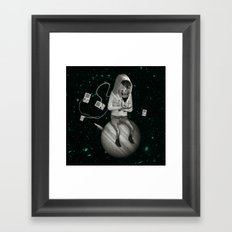 SPACE CRAB Framed Art Print