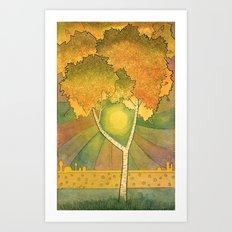 Birch 2 Art Print
