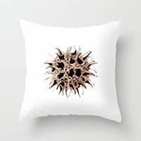 gumball Throw Pillows featuring Gumball by Beth Thompson