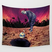 golf Wall Tapestries featuring Golf by Cs025