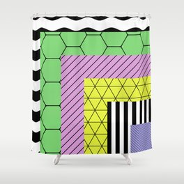 Go Bigger (Abstract, geometric, pastel designs) Shower Curtain