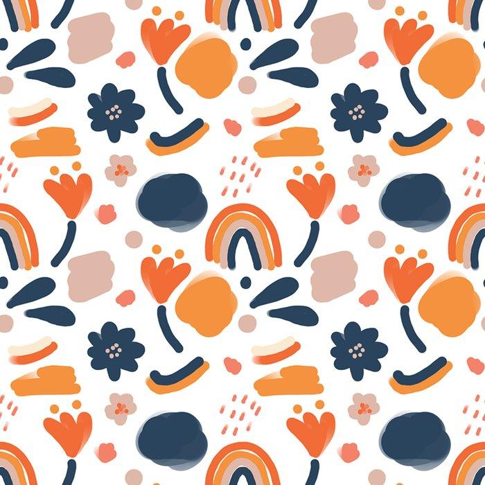 Bold Retro Floral Comforters