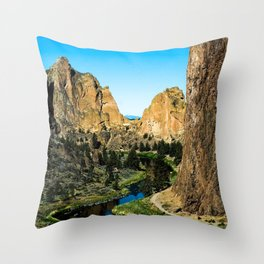 Rocks + River // Hiking Mountains Colorado Scenic View Landscape Photography Forest Backpacking Vibe Throw Pillow