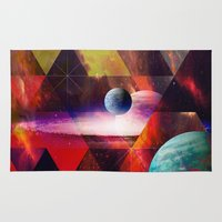 planet Area & Throw Rugs featuring Planet by Tony Vazquez