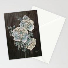 Peony Wood Stationery Cards