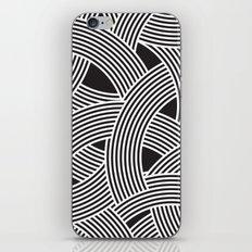 Modern Scandinavian B&W Black and White Curve Graphic Memphis Milan Inspired iPhone & iPod Skin