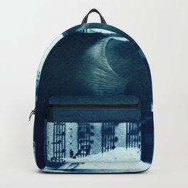 Fragments of the Past (22), art print, collage, blue print, cyanotype print, wall art, wall decor Backpack