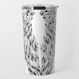 Black and White Angel Wings Travel Mug