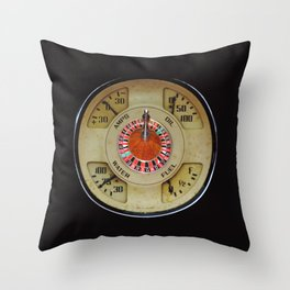 Custom Car Instrument Design with Lucky Roulette Wheel Throw Pillow