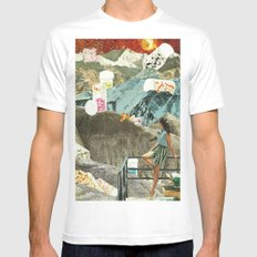 Valley of the Dolls White MEDIUM Mens Fitted Tee