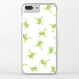 Raining Frogs Clear iPhone Case