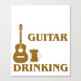 Weekend Forecast Playing Guitar With Drinking Rock Canvas Print