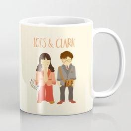 Lois & Clark - Superman The Daily Planet Years - Comic Superhero Illustration Print Coffee Mug