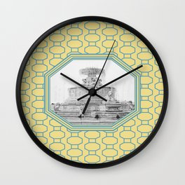 Detroit, Michigan_Scott Fountain_Belle Isle Wall Clock