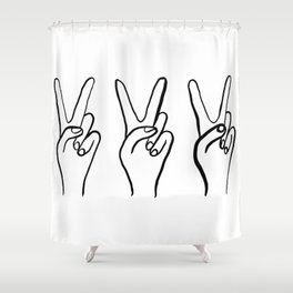 Peace Out Shower Curtain