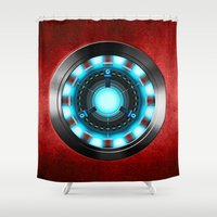 iron man Shower Curtains featuring Iron Man Iron Man by ThreeBoys