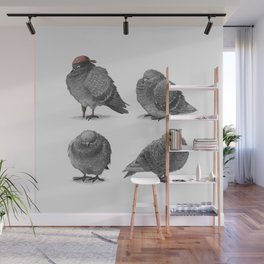 Four Pigeons Wall Mural