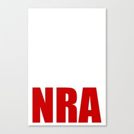 Fuck The NRA (white) Canvas Print