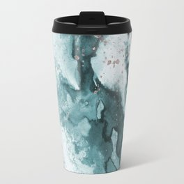 Watercolor meets Glitter - Turquoise Rose Gold - No 3 Travel Mug