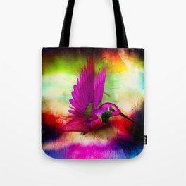hummingbird in space Tote Bag