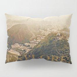 explore. golden Pillow Sham