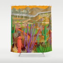Desert City Phoenix Shower Curtain