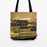prague Tote Bags featuring Prague 5 by Veronika