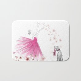 DANCE OF THE CHERRY BLOSSOM Bath Mat