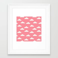 Clouds Pink Framed Art Print
