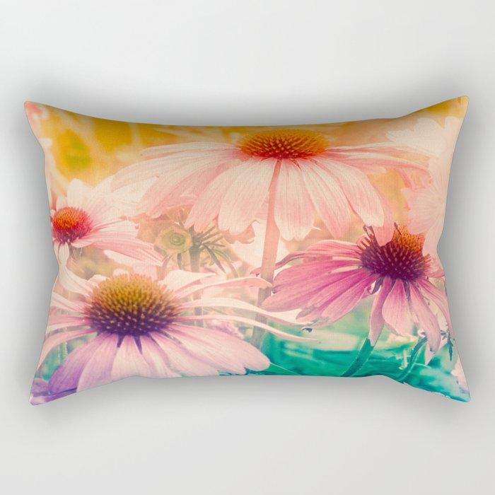 Happy Summerflowers Pastell Rectangular Pillow