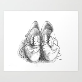 These Shoes Were Made for Working Art Print