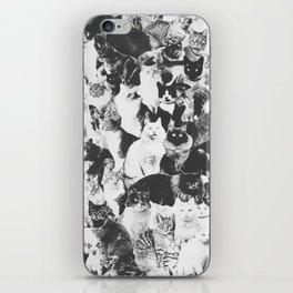 Cats Forever B&W iPhone Skin