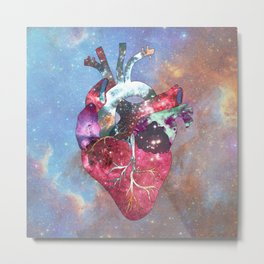 Superstar Heart Metal Print