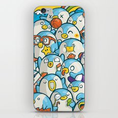 Penguin Crowd iPhone & iPod Skin
