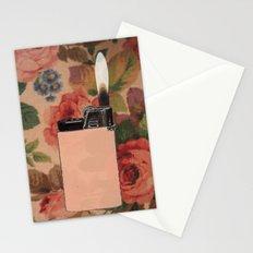 lighter on floral Stationery Cards