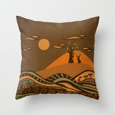 psychedelic mountains Throw Pillow